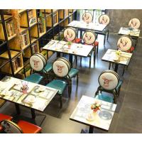 倍斯特复古美式乡村做旧防火板餐桌工业风主题中餐酒吧清吧餐桌厂家定制