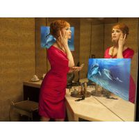 四川镜显玻璃/镜面显示镜/镜面广告机,厂家直销,支持定制