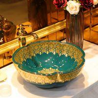 台上盆方形酒店洗手盆圆形陶瓷洗脸盆欧式洗面盆大小尺寸艺术台盆