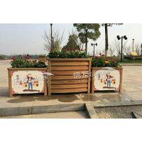 供应木纹铝合金单面弧形组合花箱 隔离带隔离栏 防腐放水