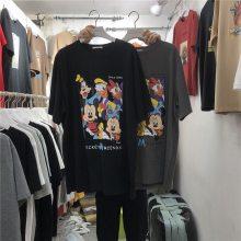 便宜韩版时尚纯棉女士T恤批发地摊货批发工厂夏季女士短袖清仓处理
