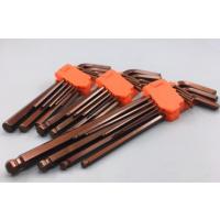 进口古铜色 国产优质内六角扳手套装组合多功能工业级球头六棱扳手加长平头内六方