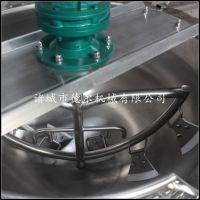 休闲食品加工设备德尔厂家直销电加热带搅拌夹层锅