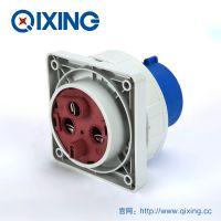 QIXING启星QX3665 3芯 125A IP67高端型工业暗装插头 3C认证