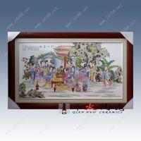 十二金钗瓷板画人物手绘加工定做价格