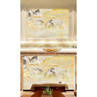 佛山市彩虹石品牌 3D微晶石背景墙 现代简约瓷砖背景墙