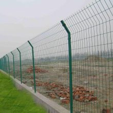阳江工地分界线围栏网 现货双边丝护栏 江门园林防护网价格