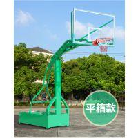 广西来宾移动式篮球架大箱凹箱篮球架批发厂家配钢化玻璃篮板飞跃体育