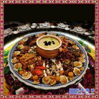 供应陶瓷一米海鲜大盘景德镇青花大瓷盘 分块分格盘定制