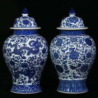 景德镇将军罐批发 狮子头仿古将军罐图片 手绘陶瓷罐定制厂家