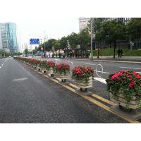 厂家定做户外PVC市政工程园林景观项目花箱护栏 广场花盆花槽公园防腐木铝合金花箱