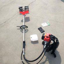 小型两冲程汽油松土机 汽油便携式松土锄草机 乐民牌