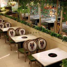 新款电磁炉火锅店桌子,佛山简约现代火锅店餐桌工厂直销定制