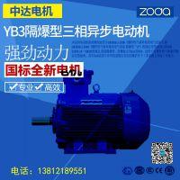 zoda品牌中达电机粉尘环境隔爆型 YB3-250M-2-55kW电机厂家