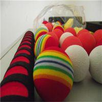 辉晟订做研磨异形加工EVA彩虹球 高弹EVA泡棉压力球