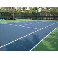 水泽士标准网球场施工 纯水性WPPU材料 环保材料地坪橡胶地板