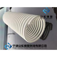 山实专供25mm pvc彩色塑 PU螺旋塑筋通风排气管 透明塑筋软管