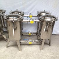 立泰不锈钢双联过滤器 并联10吨 15吨 20吨 布袋过滤桶 大流量高效固液分离设备