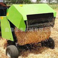 拖拉机带秸秆打包机 稻草秆打包机 秸秆打包机视频