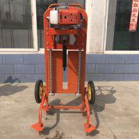 苗木种植小型挖坑机 双叶螺旋打坑机 二冲程大马力打桩机