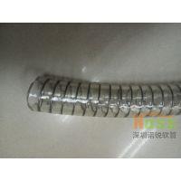 食品级钢丝加强透明软管 食品级钢丝加强TPU透明软管 加强TPU透明钢丝食品软管 WH00222软管