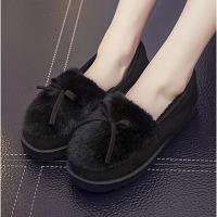 加绒加厚秋冬必备保暖鞋居家鞋包跟棉鞋女鞋毛毛鞋豆豆鞋 棉拖鞋月子鞋女鞋