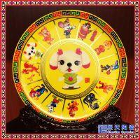 卡通动漫盘小猪佩奇定制盘 外贸装饰盘熊猫长城送外国友人礼品