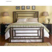 钢制单层床黑色双人位床时尚单层床欧式单双人成人床批发定制