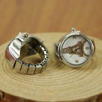 A0855 铁塔面戒指表 手表女 男 韩版时尚 复古石英表情侣个性礼物