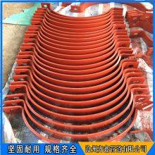 水平管道焊接支座 管道双孔管夹 齐鑫配套使用