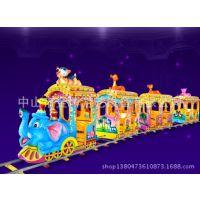儿童游乐场设备电动观光小火车 金博无轨大象小火车