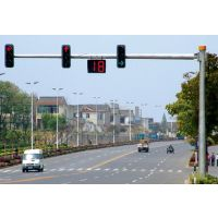 河北路灯杆厂家供应三色一体式交通信号灯杆