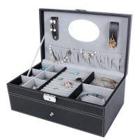 手表收纳盒 6位 新款居家化妆箱 手镯耳钉珠宝黑色盒子 厂家直销