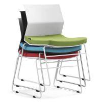 办公休闲椅 众晟塑料弓形脚会议椅 简约职员培训椅定制
