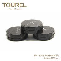 途悦酒店客房用品黑色圆形通用可定制一次擦鞋机