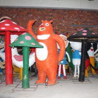 稻草人工艺品稻草艺术节景观整稻草干稻草人卡通人物动物稻草制作