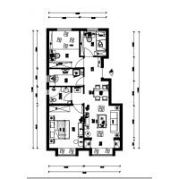 实创装饰|首创紫悦台93平现代风格全屋定制设计效果图