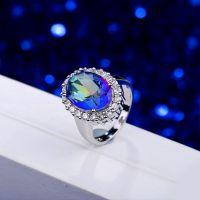 铜材锆石女式戒指 时尚潮流饰品生产厂家 旅游礼物