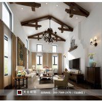 坡岭顿小镇|独栋别墅|天古装饰设计师彭华作品|美式风格
