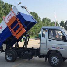 上蓝牌的5.5方福田挂桶式垃圾车全新图片 参数 济宁 三石机械