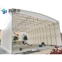 坊子区专业制作电动推拉雨棚布活动推拉帐篷移动工地仓储蓬配件