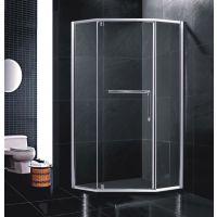 淋浴房厂家供应LINYUF不锈钢淋浴房 两固一活动不锈钢整体卫浴