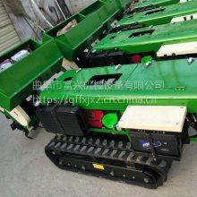 柴油动力果园施肥机厂家 富兴牌自走履带式果树旋耕除草机