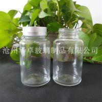 沧州华卓加工优质透明广口玻璃瓶 保健品玻璃瓶 规格齐全