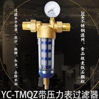 悦驰TMQZ带压力表前置过滤器 家庭中央净水器 自来水过滤器