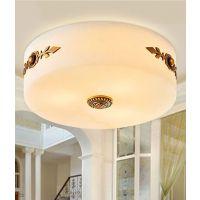 欧式全铜卧室吸顶灯欧式圆形玄关阳台过道厨房灯卫生间书房灯饰