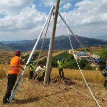 12米铝合金三角拔杆 12米山区水泥杆立杆机械 洪涛电力 厂家直销
