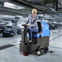商场车站地面清洁用哪种好?容恩驾驶式洗地机RQQR