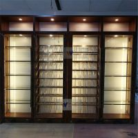中式不锈钢酒柜钛金不锈钢恒温酒柜伟天盛加工定制厂家
