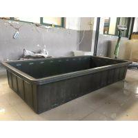 山东批发牛筋料水产方形箱 1500L塑料水槽周转箱
